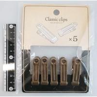 Antique style clip 5p