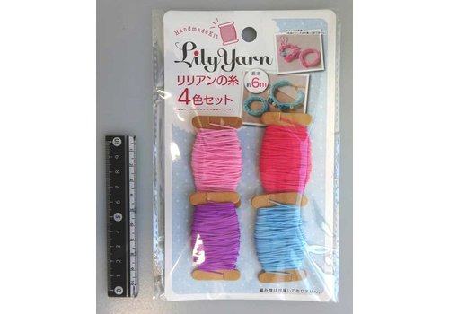 Lily-yarn strings 4 colors set