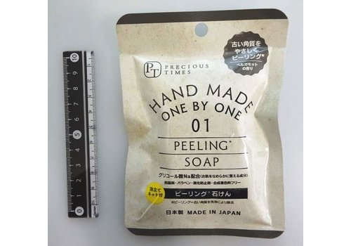 Peeling hand made soap with foaming net