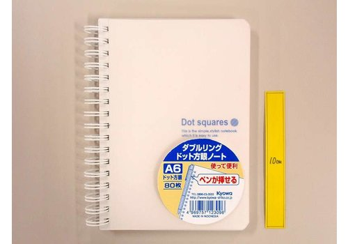 Ring-type notebook A6  with pen pocket