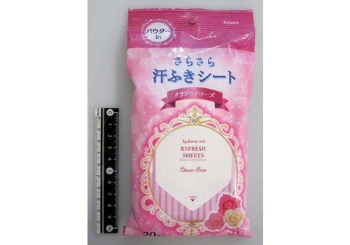 Sweat wipe sheet(rose)