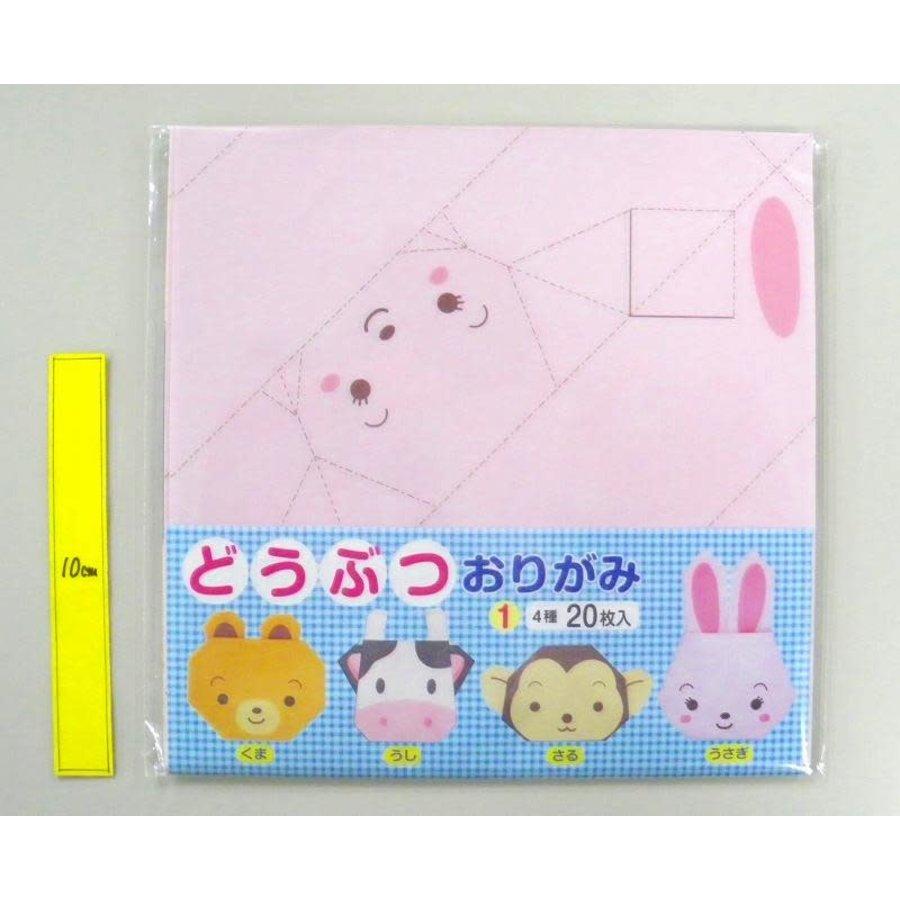 Animal folding paper 1 20p 4 kinds-1