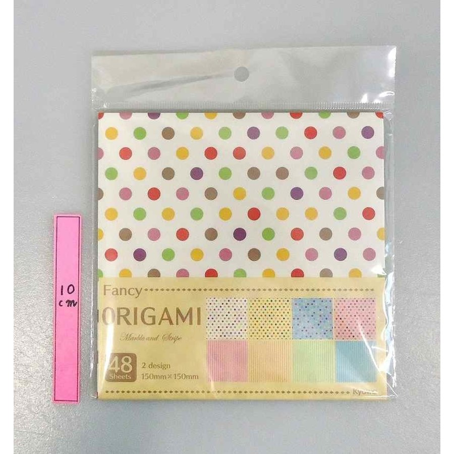 Fancy origami M & stripe 48s-1