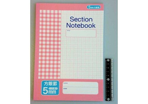 B5 Notebook 5mm 50s pink