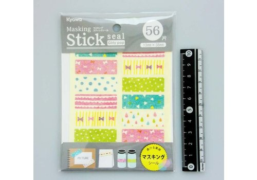 Marking sticker, rectangle, girly
