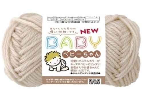 Gentle knitting yarn (18% wool), beige