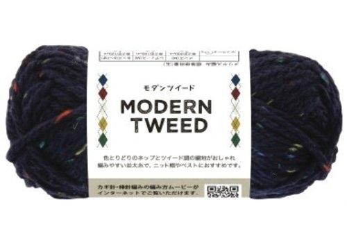 Modern tweed 3 navy
