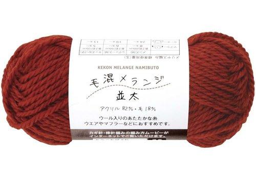 Knitting yarn (18% wool), red