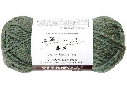 Knitting yarn (18% wool), green
