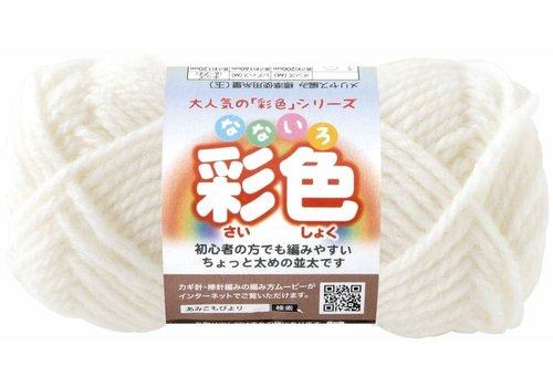Knitting yarn (15% wool), white