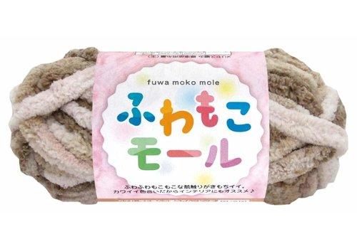 Fluffy mole 6 beige/pink
