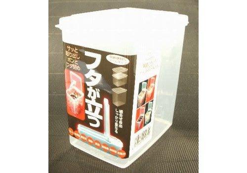 Plastic food slim container, large