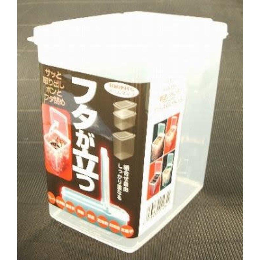 Plastic food slim container, large-1