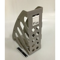 Magazine file holder, gray