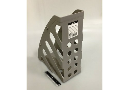 Magazine file holder, gray