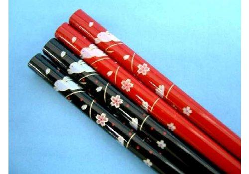 Chopsticks, rabbit and cherry blossom