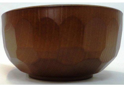Wood tortoise shell patter middle bowl(OK for dishwasher)