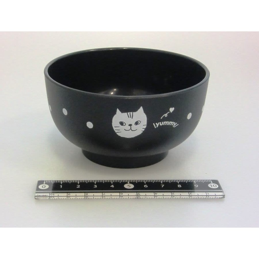 Cat motif lacquerware bowl BK-1