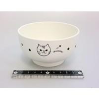 Cat motif lacquerware bowl WH