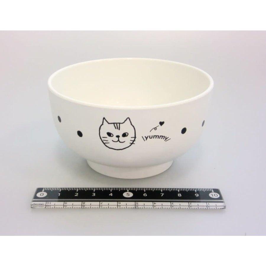 Cat motif lacquerware bowl WH-1