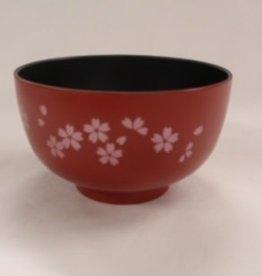 Pika Pika Japan Bowl for soup?Washing-up washing machine OK? sakura red