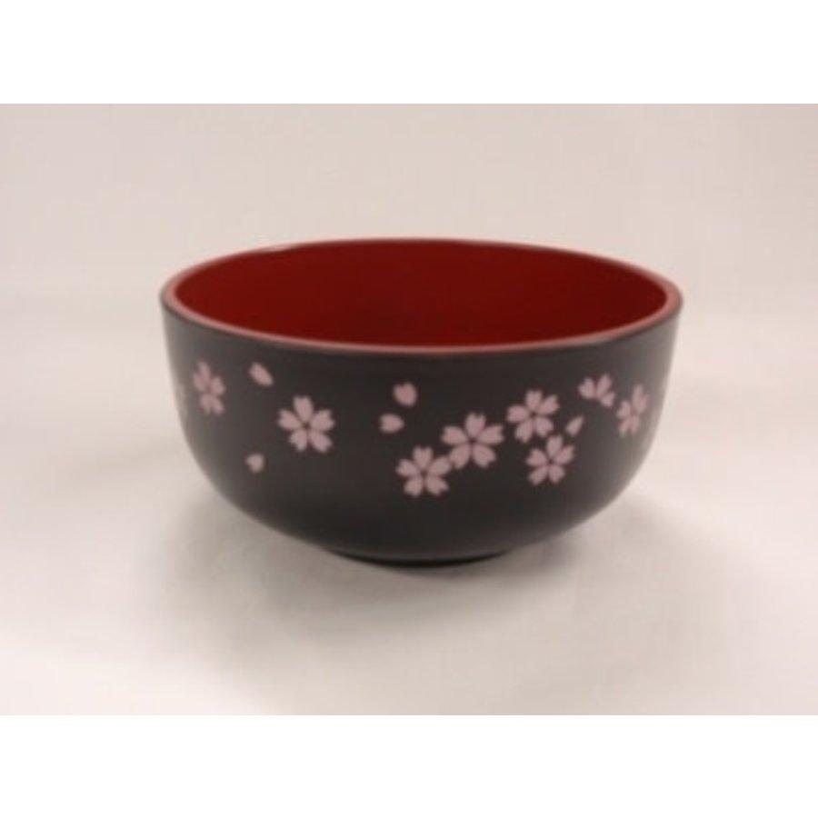 A middle bowl ?Washing-up washing machine OK? sakura black-1