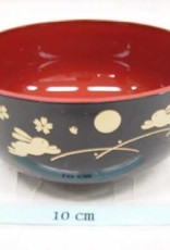 Pika Pika Japan A middle bowl tukiusagi black