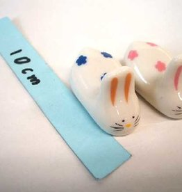 Pika Pika Japan Chopsticks putting of earthenware rabbit2P