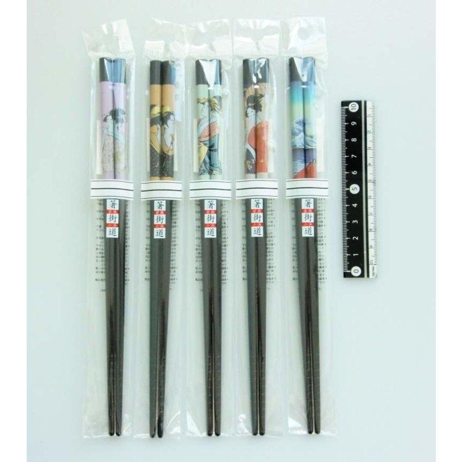 Ideal good old days Japanese woman printing chopsticks 22.5cm-1