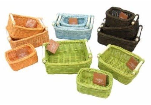 rattan basket assortment (colorful)