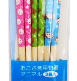 Pika Pika Japan Kid's chopsticks 3p set 18cm animal