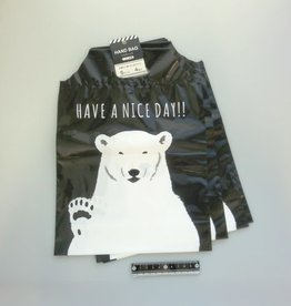 Pika Pika Japan Handy bag white bear pattern S 4p