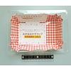 Wegwerp etensbakjes met ruitpatroon, rechthoekig - 8 stuks