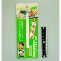 Food decoration cutter flat blade