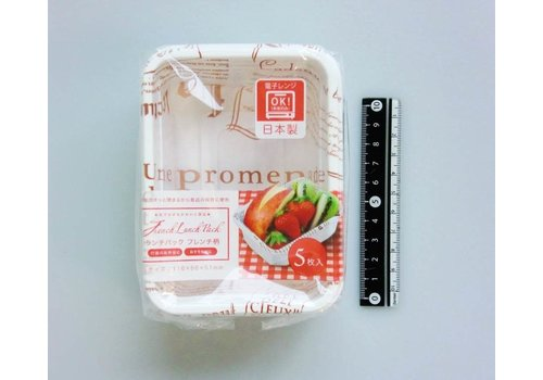 Disposable lunch box, small, 5p