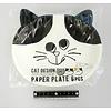 Pika Pika Japan Paper plate cat pattern 6p