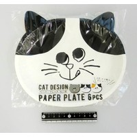 Paper plate cat pattern 6p