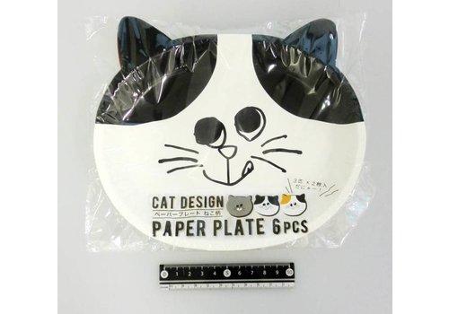 Paper plate, cat, 6p