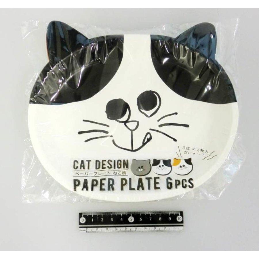 Paper plate cat pattern 6p-1