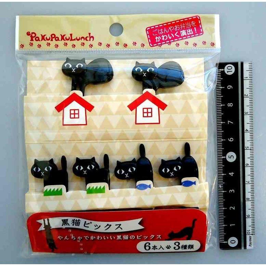 ?Black cat food picks 6p-1