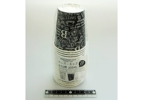 Paper cup, café pattern, 20p