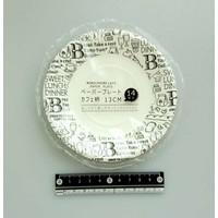 Paper plate, café pattern, 14p