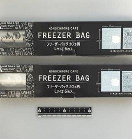 Pika Pika Japan Freezer bag cafe motif L 6p