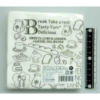 Cafe motif design paper napkin white 20s