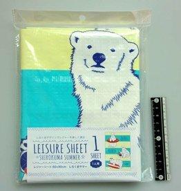 Pika Pika Japan Picnic sheet 60x90cm polar bear summer