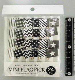 Pika Pika Japan Mini flag picks monotone 24p