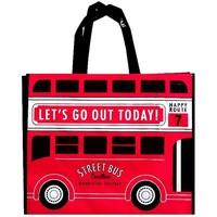Leisure tote bag check bus