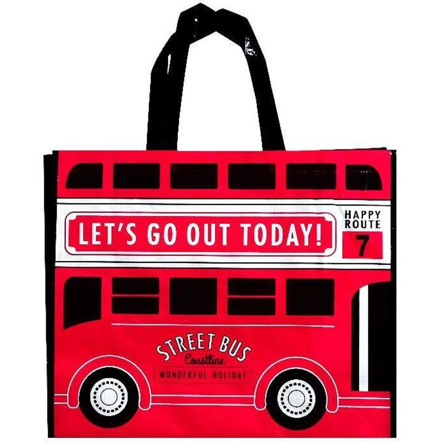 Leisure tote bag check bus-1