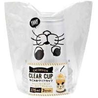Disposable plastic cup, cat, 3p