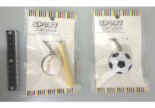 Sports key chain baseball/soccer